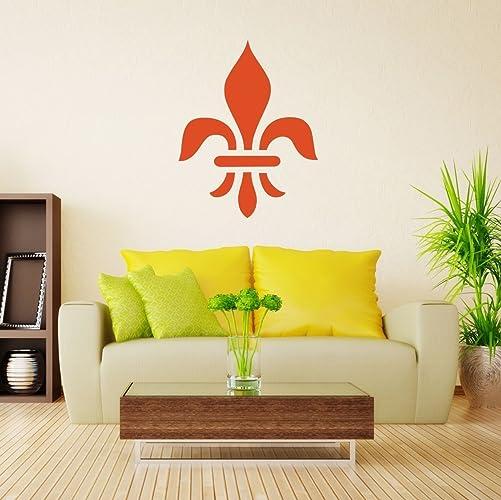 Large Fleur De Lis Wall Decal   French Themed Vinyl Decor Sticker   Symbol  Of Royalty