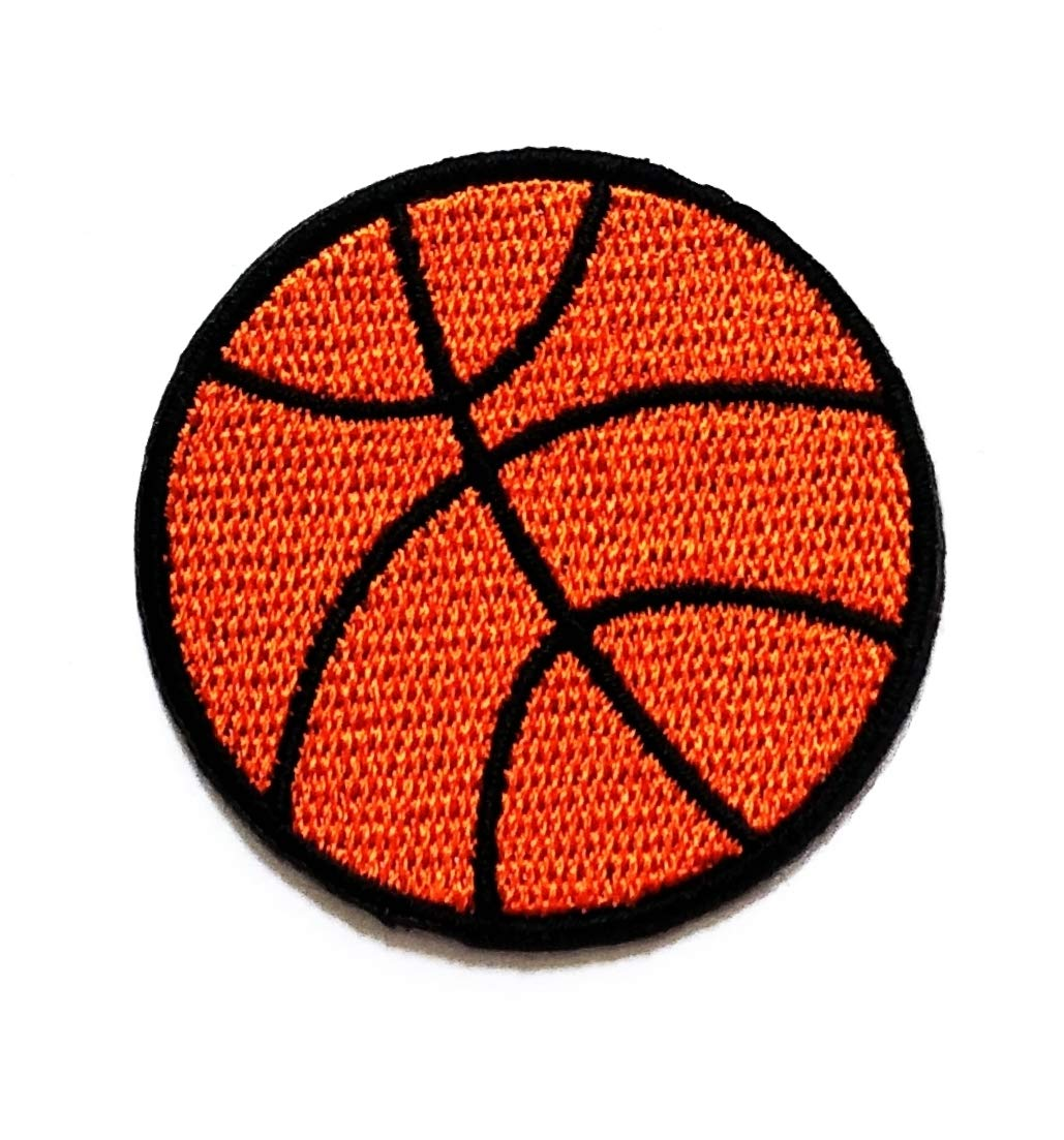 Nipitshop Patches Cute Sports Basketball Patch Orange Basketball Cartoon Kids Patch Embroidered Iron On Patch for Clothes Backpacks T-Shirt Jeans Skirt Vests Scarf Hat Bag