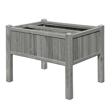 Gartenpirat Hochbeet Krauterbeet Holz Grau 109x78x80 Cm Mit