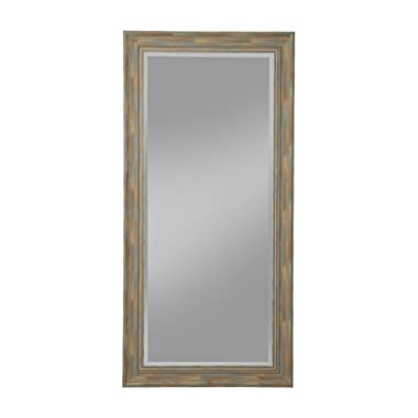 Sandberg Furniture Antique Turquoise Farmhouse Full Length Leaner Mirror