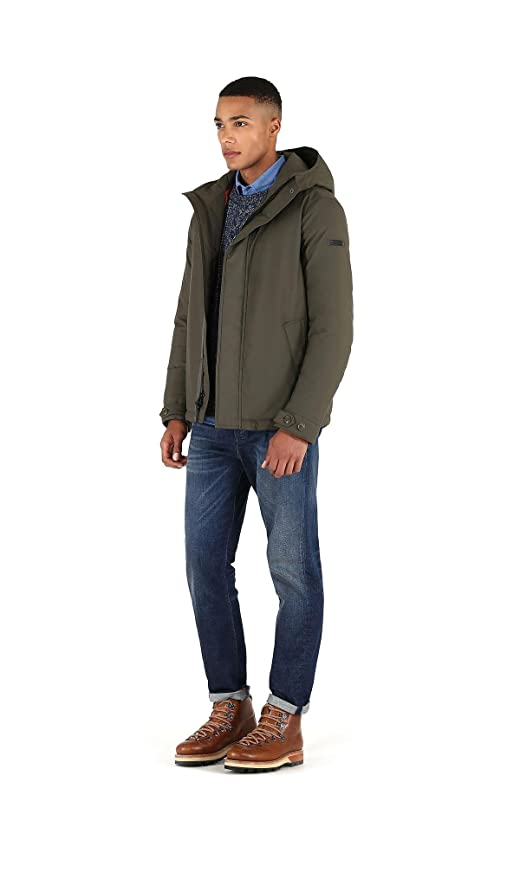 Woolrich Giubbino Uomo wocps2608 tc60 614 Teton Rudder Green Jacket Piuma  Corto fw 17 18 L  Amazon.co.uk  Clothing e8d7c700bf7