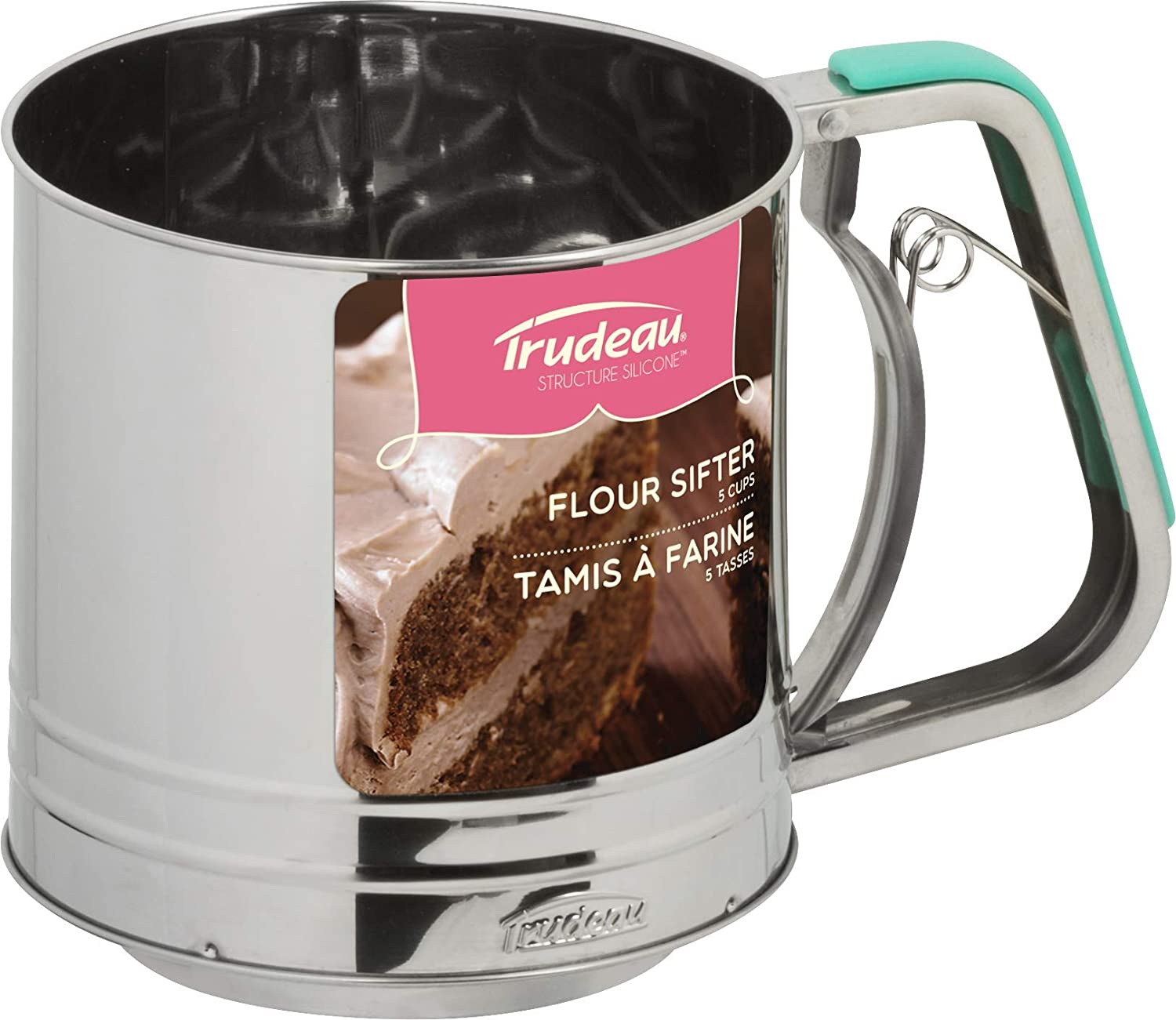 Mint Green Trudeau 9913078 Flour Sifter of Stainless Steel