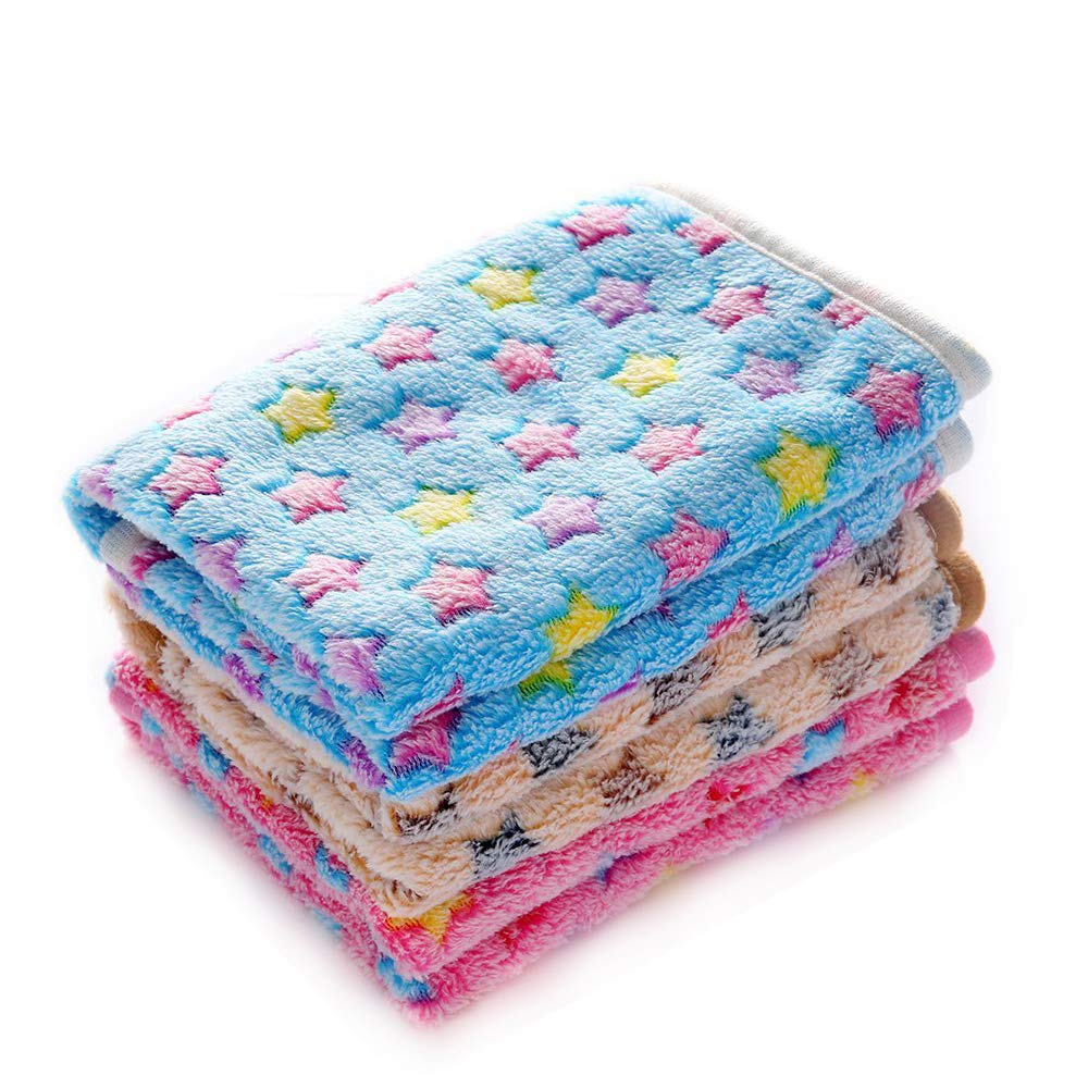 luciphia 1 Pack 3 Blankets Super Soft Fluffy Premium Fleece Pet Blanket Flannel Throw for Dog Puppy Cat Star Small