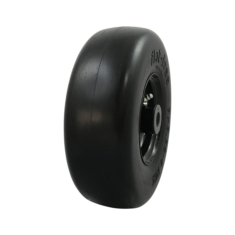 MARASTAR 00214 Universal Fit Flat Free 9 x 3.50-4 Lawnmower Tire Assembly