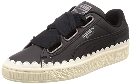 Puma Womens Basket Heart Scallop WNS, PUMA Black-PUMA Black, ...