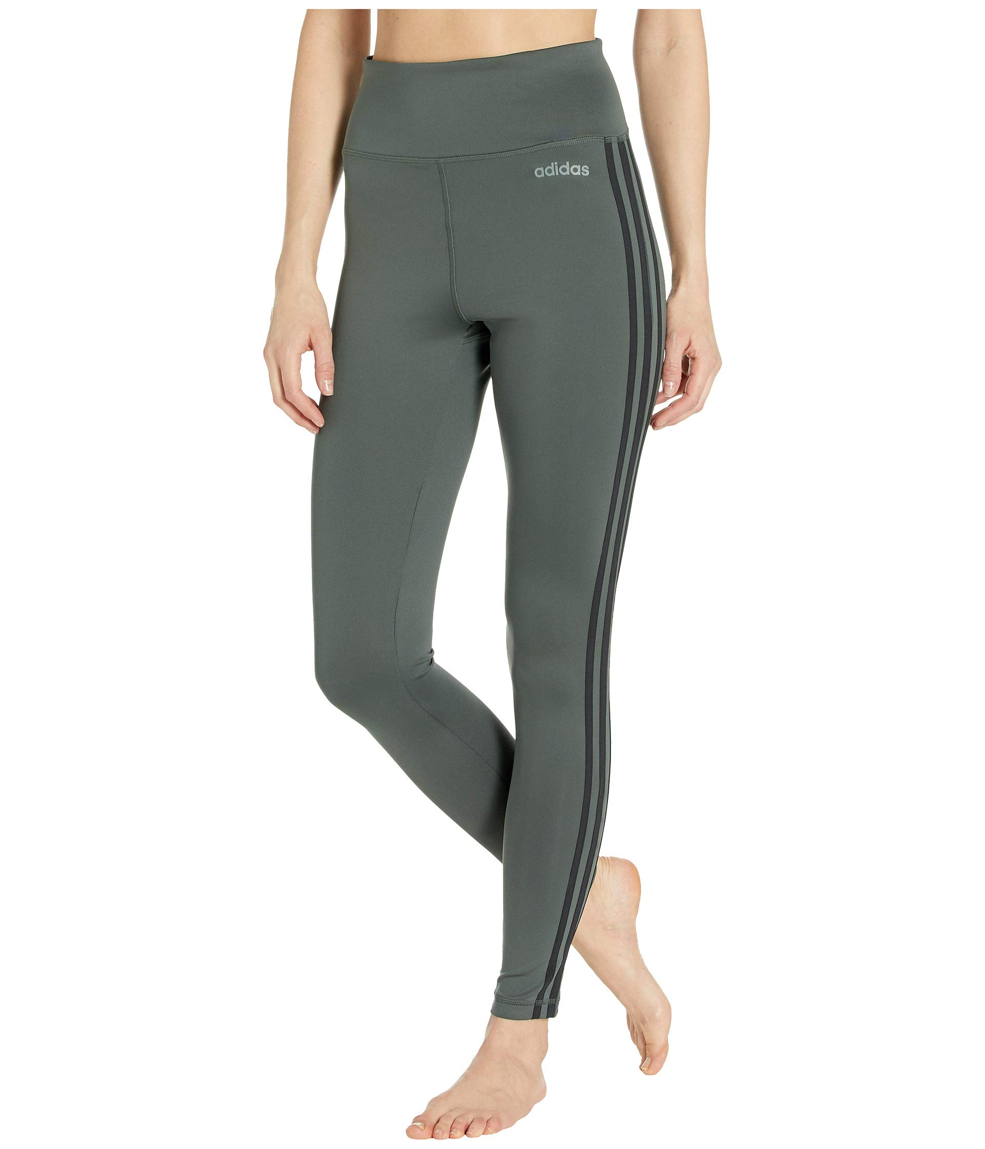 adidas Women's Designed-2-Move High-Rise Long 3-Stripes Tights Legend Ivy Large 29