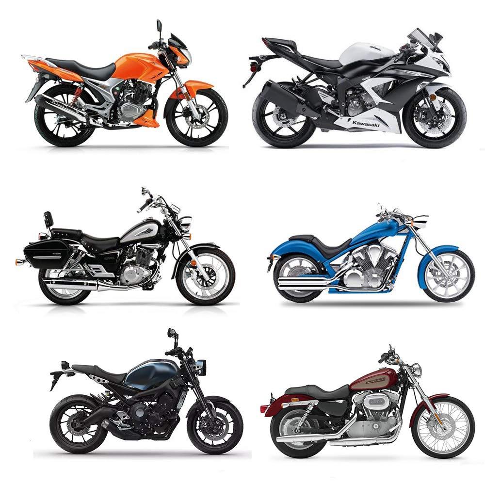 LucaSng Funda Protector para Moto 190T,Cubierta para Moto,Protección UV, Impermeable, berberecho a Prueba de Polvo, Anti-deciduo XXL (245X105X125cm) Negro/Plata