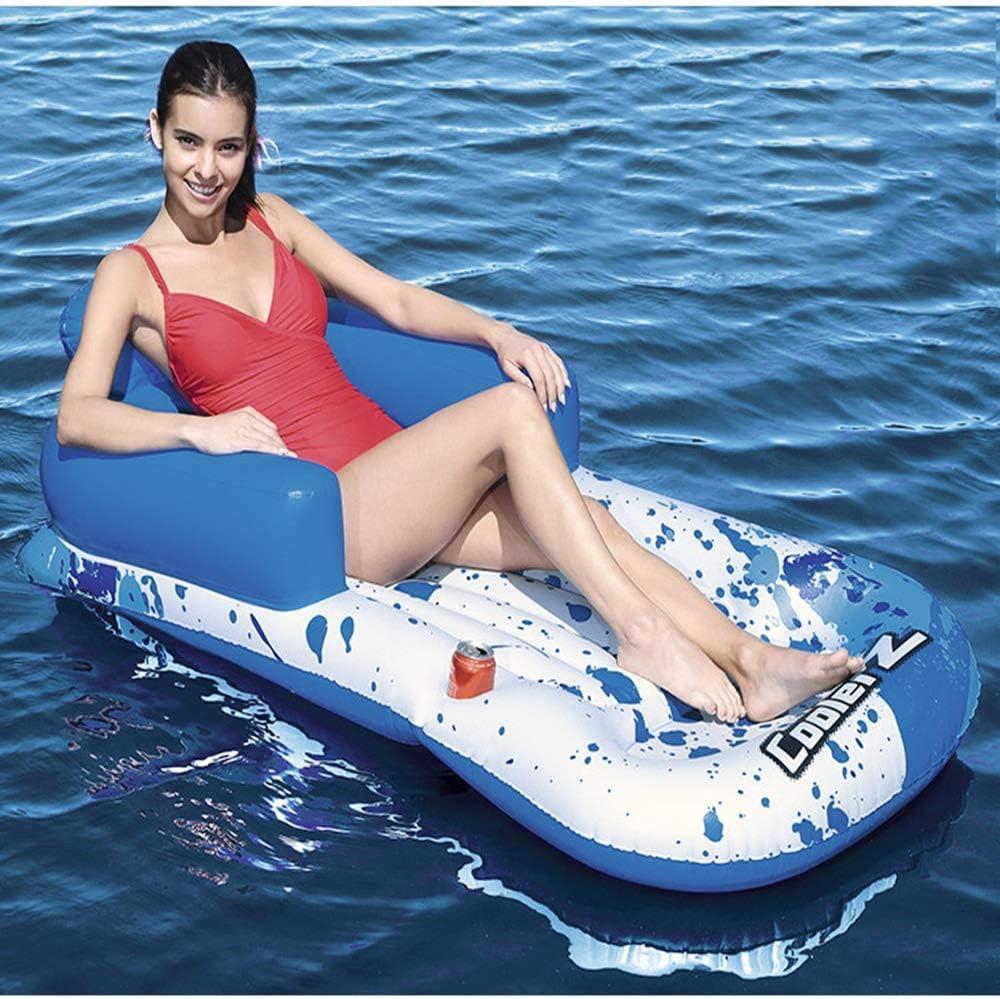 長方形の青と白のポリ塩化ビニールの膨脹可能な浮遊物、夏の水辺の家のプールのおもちゃ、高バランスの環境的に携帯用、161 X 84cm しわらかい