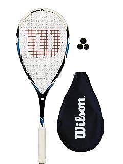2 Wilson Ripper Junior Squash-Schl/äger-Set mit Tasche Wasserflasche und /& Tennisb/älle 145