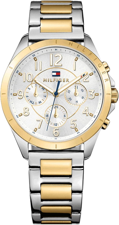 Reloj para mujer Tommy Hilfiger 1781607, mecanismo de cuarzo, diseño con varias esferas, correa de acero inoxidable.