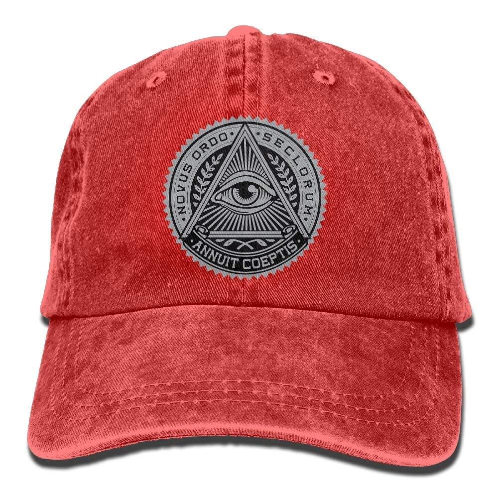 Miedhki Sombrero de Vaquero Adulto Illuminati Gorra de b/éisbol Atl/ético Ajustable Nuevo Sombrero para Hombres y Mujeres Multicolor55