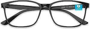 [Latest 2020 ] Blue Light Blocking Glasses, Computer Gaming Glasses, Reading/TV/Phones Glasses for Women Men, Bluelight Blockers Blue Ray Screen Lense Glasses Anti Eye Strain Headache & UV Glare