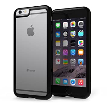 Funda iPhone 7 Plus - KHOMO Carcasa Negra Híbrida Transparente Anti-Arañazos con Bumper Negro Protector Antichoque para el nuevo Apple iPhone 7 PLUS ...