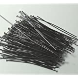 144 Head Pins .029dia X 2 Inch Black Oxide Plating Over Brass Standard 21 Gauge Wire Beadsmith Headpins