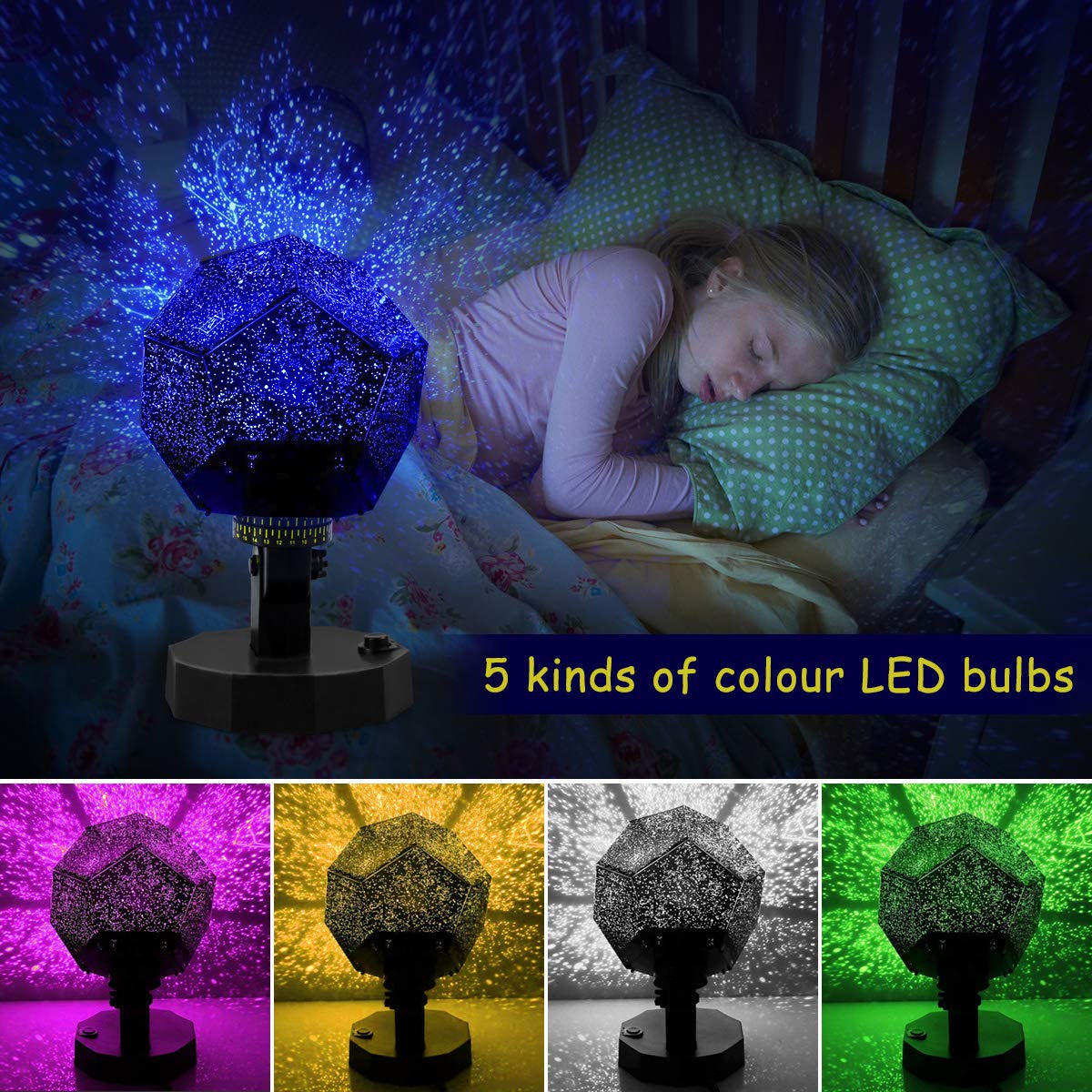 Lisnec Diy Night Light Baby Star Projector Multicolor Changing How To Build Hd Led Details Use