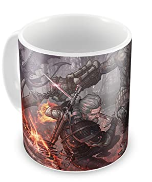 Taza Geralt The Witcher 3 (J) - Witcher III Cup: Amazon.es ...