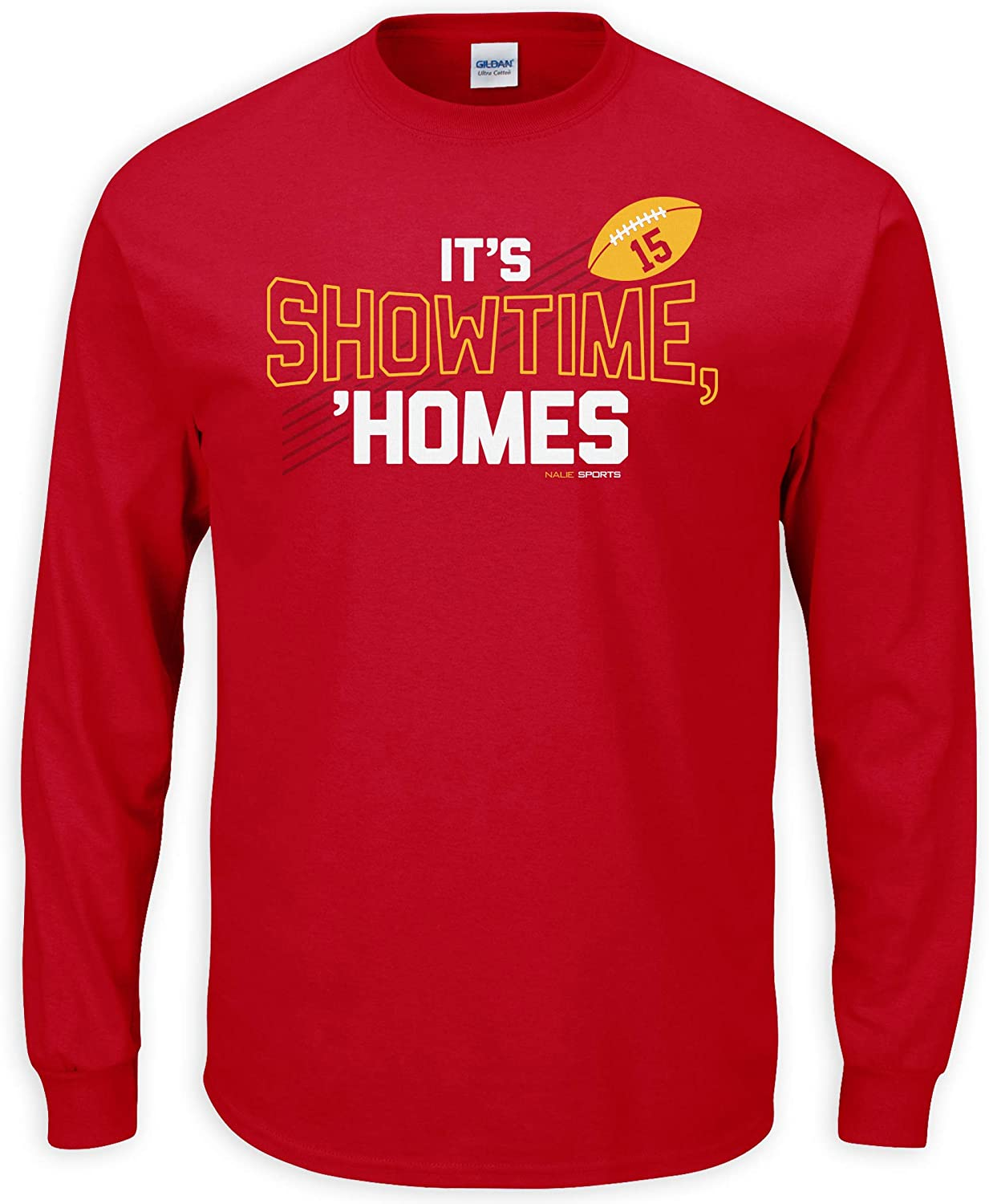 Nalie Sports KC Football Fans. It's Show Time Homes Red T-Shirt (Sm-5X)