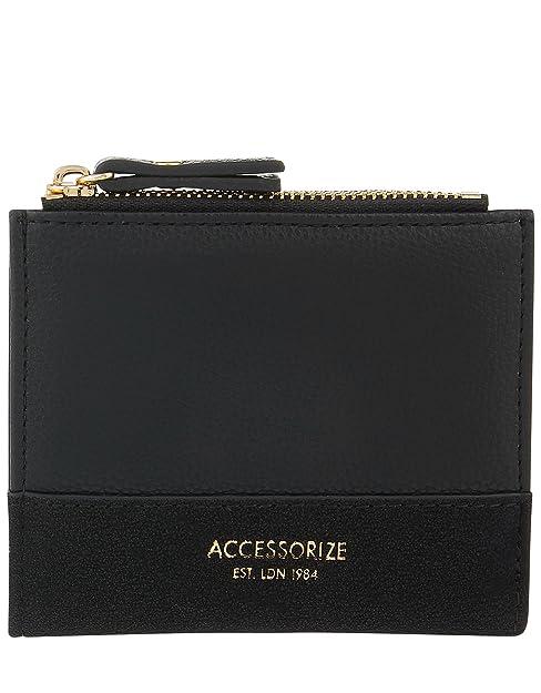 Accessorize - Cartera para mujer de Sintético Mujer, Negro (Negro), talla única: Amazon.es: Zapatos y complementos