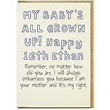 16th Birthday Card Son16th Boy Gift Son