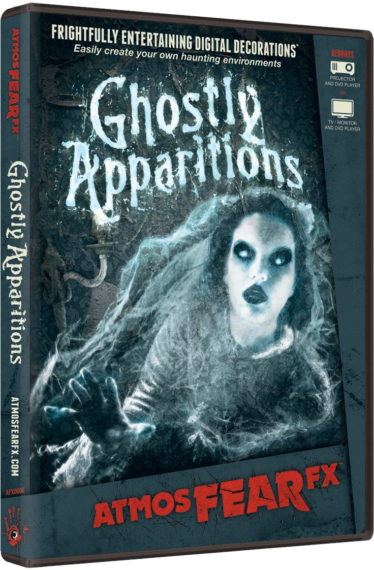 AtmosFX Ghostly Apparitions Digital Decorations DVD for Halloween Holiday Projection Decorating by AtmosFX