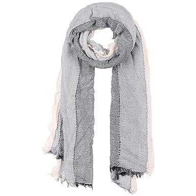 Chapeaushop Echarpe pour Homme Torico Stripes echarpe d ete foulard (taille  unique - gris 2154354395e