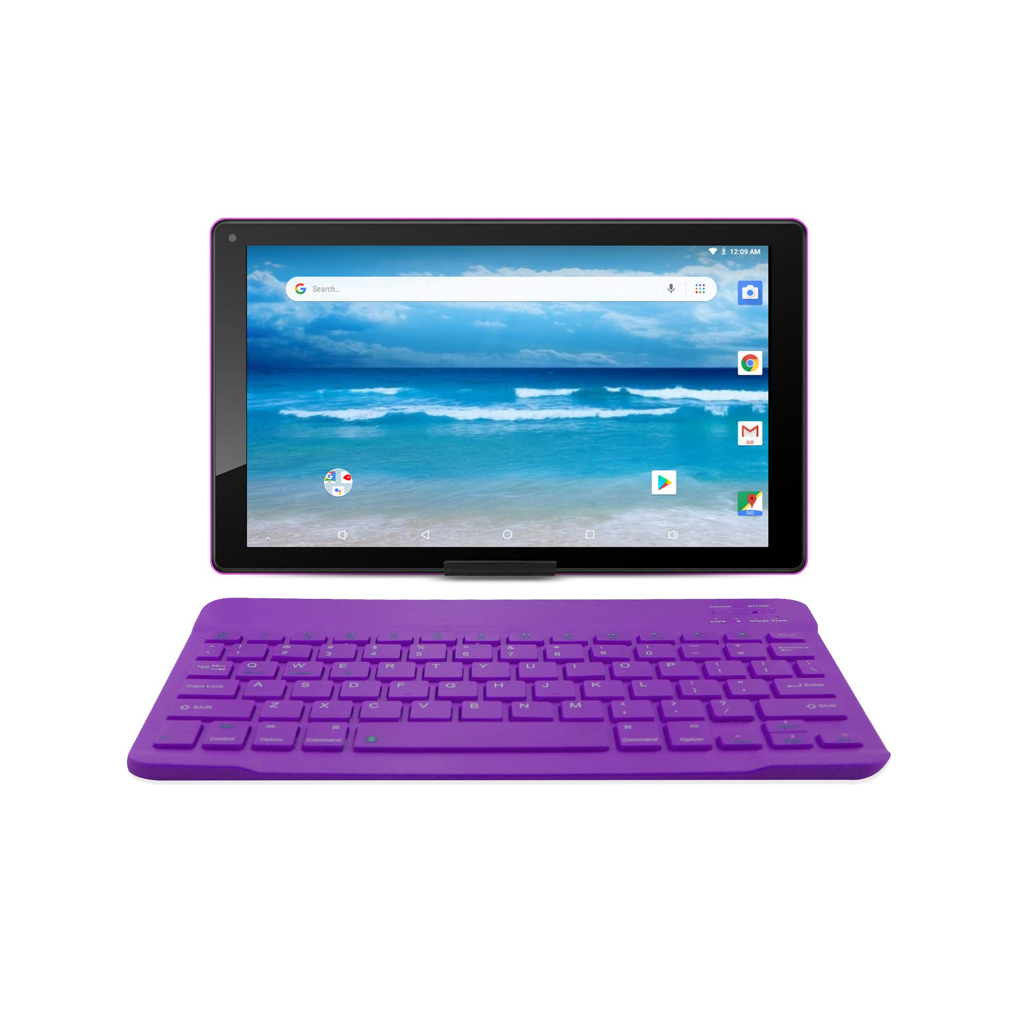 10.1 inch Android 8.1 Oreo HD Tablet by Azpen, Google Certified Tablet, Bonus- Bluetooth Keyboard, Case and Stand Included (Purple)