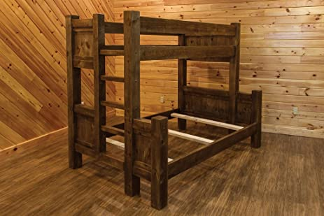 Barn Wood Style Timber Peg Bunk Bed