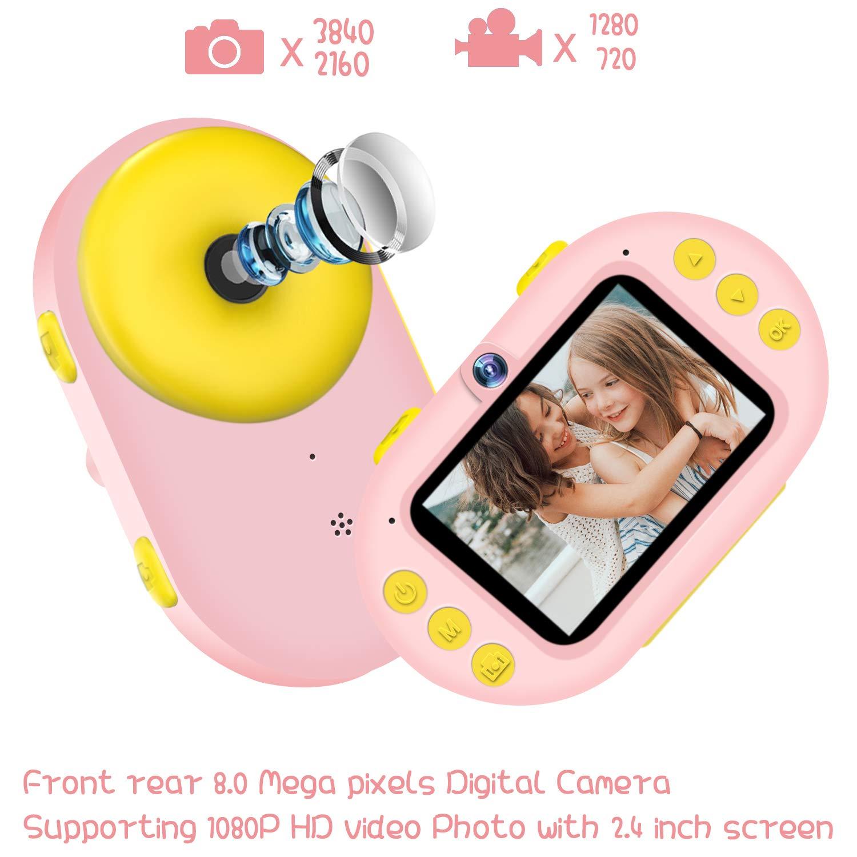 Kids Camera Underwater Digital Camera,HD 1080P IP68 Waterproof Toddler Camera Video Recorder Action Camcorder,8X Digital Zoom,2.4 inch IPS Display with 16G Memory Card & Waterproof Case by LeaderPro (Image #3)