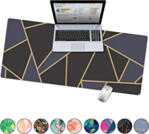"French Koko Large Mouse Pad, Desk Mat, Keyboard Pad, Desktop Home Office School Cute Decor Big Extended Laptop Protector Computer Accessories Pretty Mousepad Women Girls XL 31""x15"" (Classic Chic Dark)"