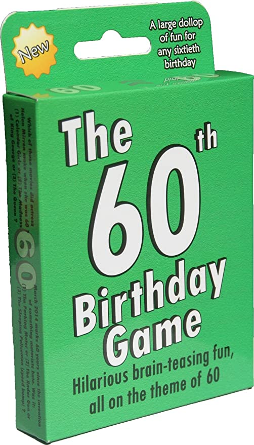 The 60th Birthday Game A Fun Gift Or Present Specially For People Turning Sixty