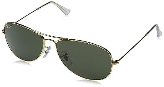815300ed40 Amazon.com  Ray-Ban COCKPIT - ARISTA Frame CRYSTAL GREEN Lenses 59mm Non- Polarized  Ray-Ban  Clothing