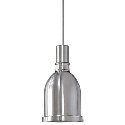 Kindri Metal Pendant Light |Brushed Nickel Pendant Lighting for Kitchen  Island LL-P202-1BN
