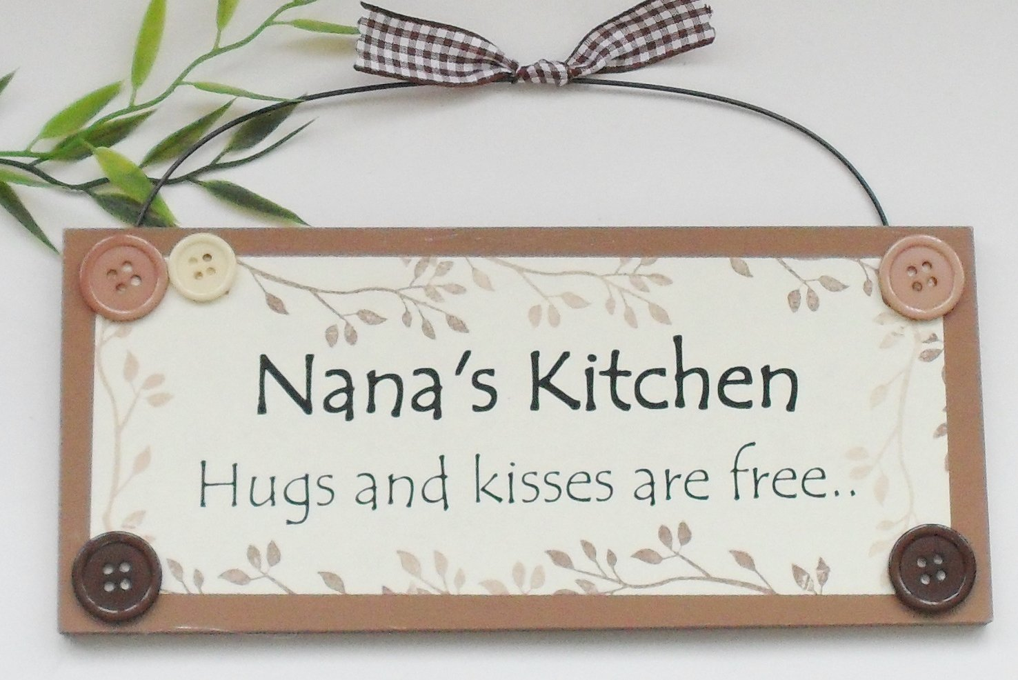 Nana\'s Kitchen Wooden Keepsake Gift Plaque: Amazon.co.uk: Kitchen & Home