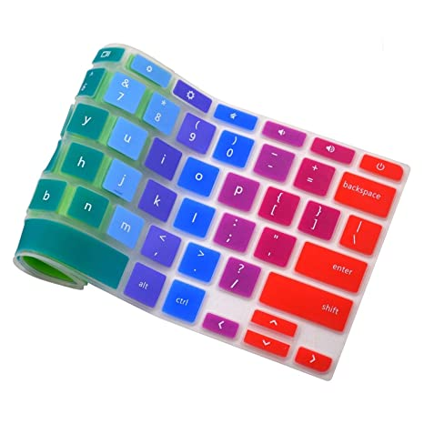 CP5-471 Silicone Skin Laptops Accessories 14 Rainbow Casiii Keyboard Cover for Acer Chromebook 14 inch Chromebook CB3-431