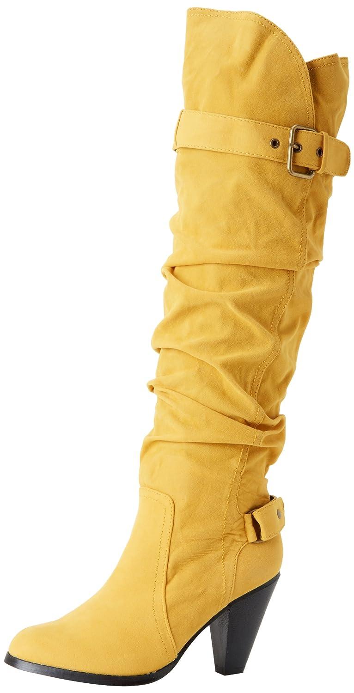 864fa8bb Amazon.com | Fahrenheit Women's Lena-02 Knee-High Boot, Yellow, 6 M ...