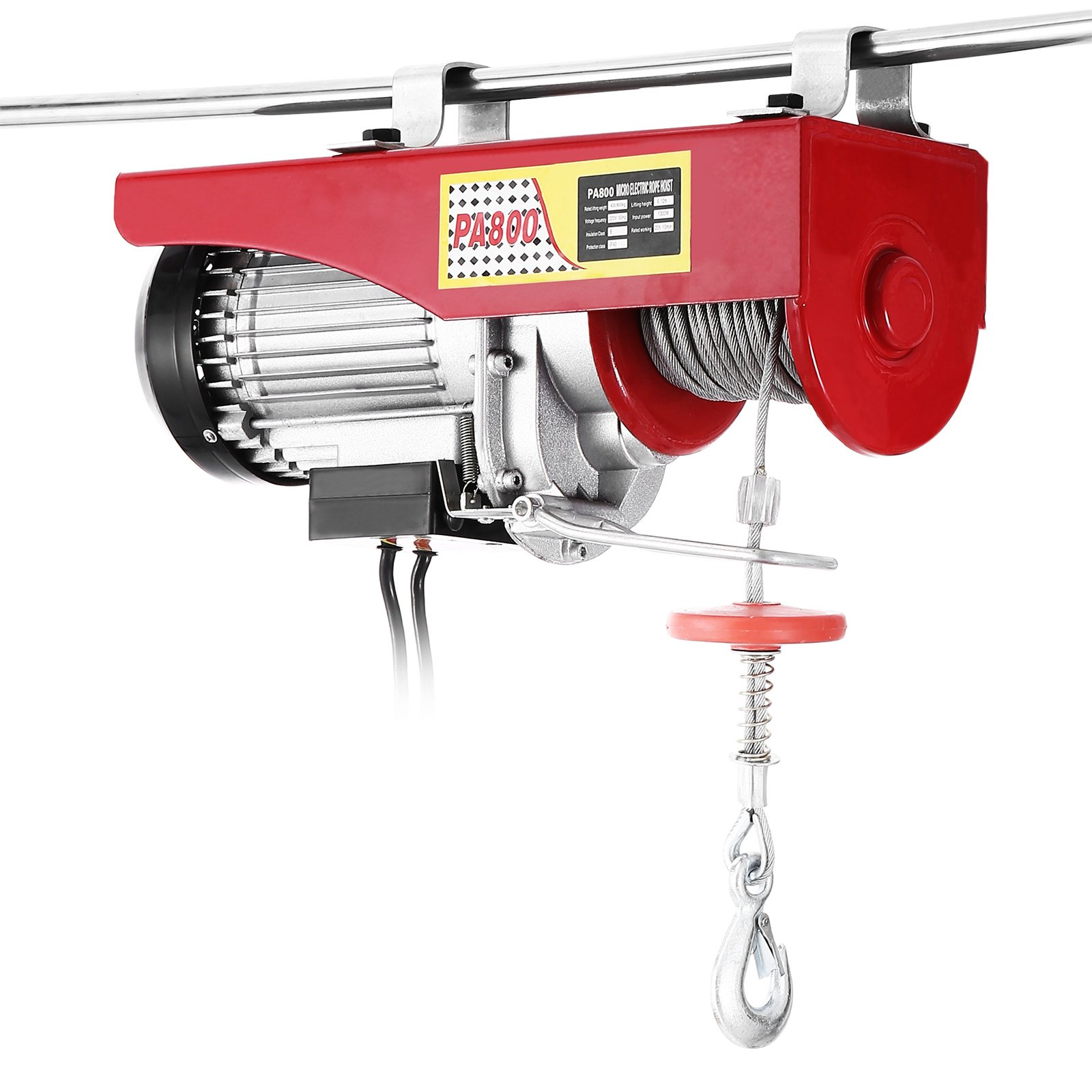 Popsport Electric Hoist 1500LBS Electric Hoist Crane 110V 1350W Lift Electric Hoist Crane Overhead Garage Winch with Remote Control Auto Lift (1500LBS)
