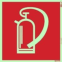 Symbolschild Feuerlöscher DIN soft Kunststoff nachleuchtend &. selbstklebend 150x150mm orig. ANDRIS®