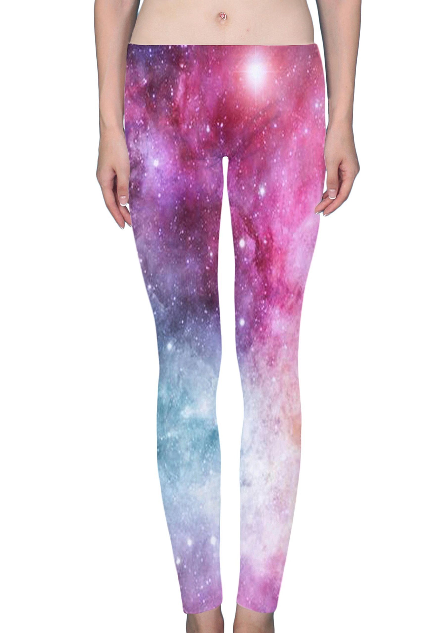 Hualing Galaxies Uuniverse Star Women's Printed Leggings Soft Stretchy Workout Yoga Pants Fashion Sports Pants by Hualing (Image #1)