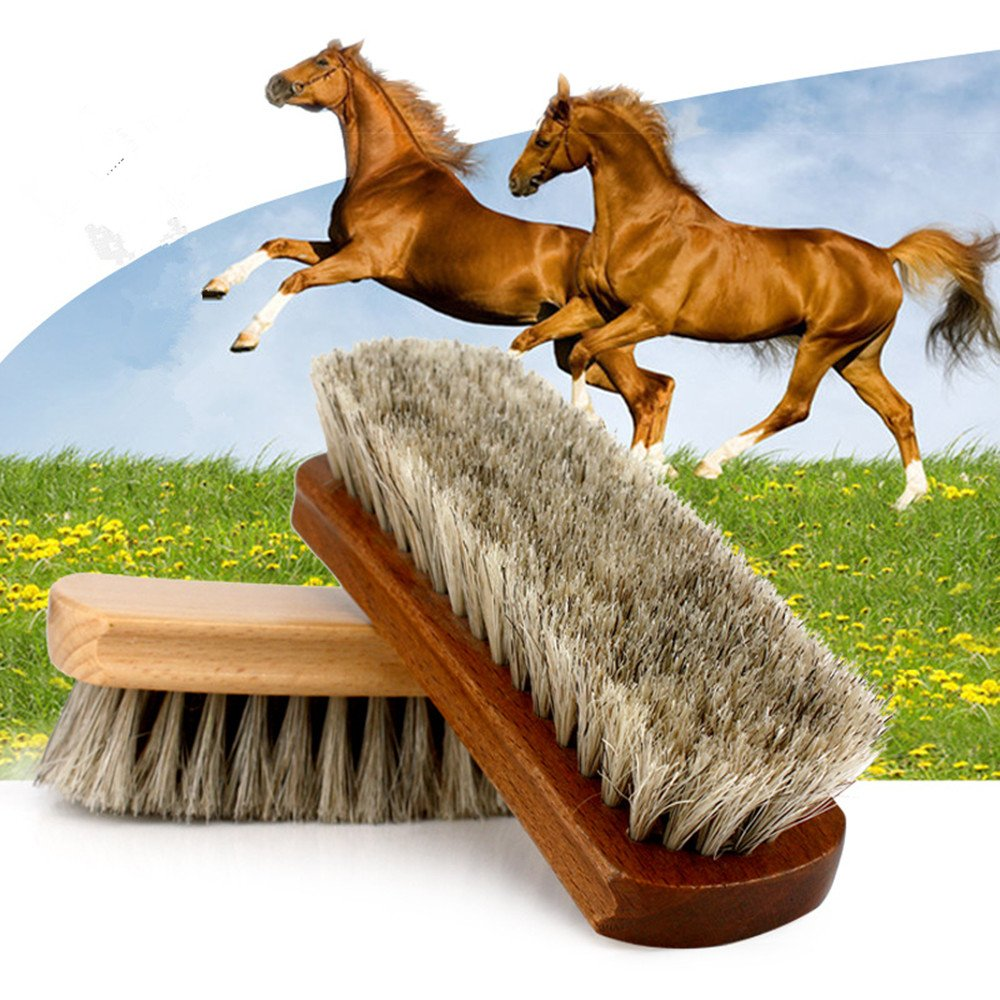 Shoe Shine Brushes MoYag Large Professional Horse Hair Brushes for Shoes, Boots & Other Leather Care by MoYag (Image #6)
