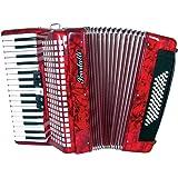 Scarlatti Accordions JH2011 AL0011F Dry - Acordeón de teclas, color rojo