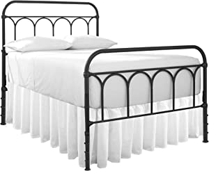 Dust Ruffle with Split Corner Ruffled Gatherd Bed Skirt with Platform Three Sided Coverage - 18