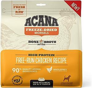 ACANA Grain Free High Protein Fresh & Raw Animal Ingredients Free-Run Chicken Recipe Freeze Dried Morsels Dog Food, 8 oz.