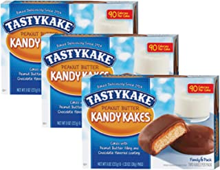product image for Tastykake Chocolate or Peanut Butter Kandy Kakes Family Size 6 Pack- A Philadelphia Baking Institution (Peanut Butter, 3 Pack)