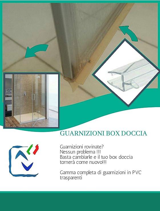 Junta para mampara de ducha, para puertas deslizantes, transparente con escurridor de cristal de 8 mm por 1,10mt-vendida: Amazon.es: Bricolaje y herramientas