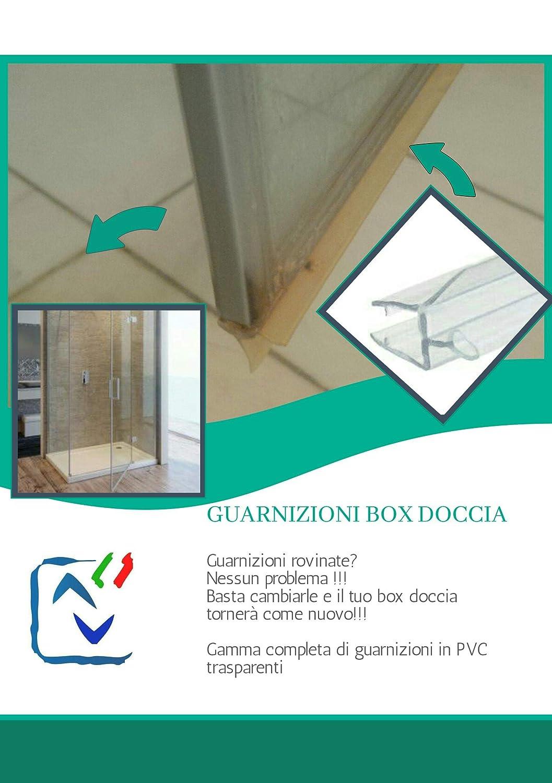 Guarnizioni Box Doccia Torino.Guarnizione Box Doccia Sottoporta Trasparente A Gocciolatoio Per Vetro 6mm Venduta Da 2 20mt