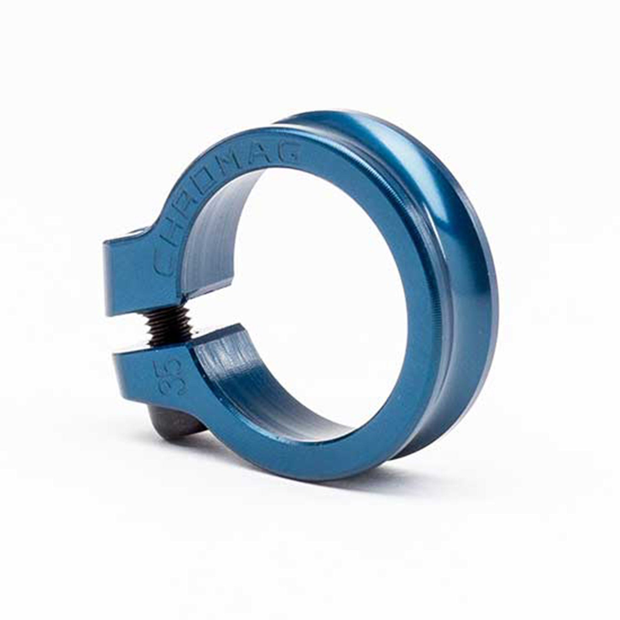 Chromag Bikes Seat Post Fixed Clamp - 35mm - blue