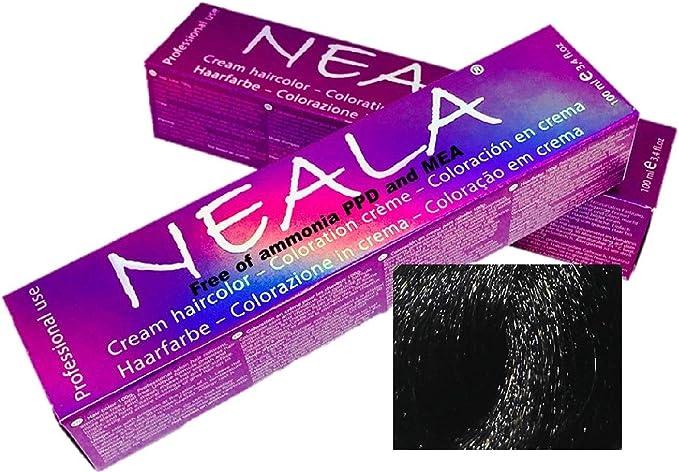 Tintes Profesionales SIN AMONIACO y libre de PPD y MEA- 1.1- Negro Azulado - NEALA 100ml.