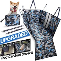 Dog Car Seat Cover, Heavy Duty & Waterproof, Machine Washable Dog Hammock with Mesh Visual Window, Side Flaps with…