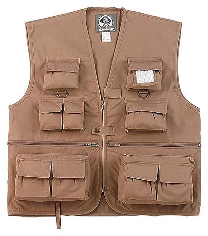 91bd36b9e Amazon.com : Rothco Uncle Milty Vest - Khaki : Sports & Outdoors