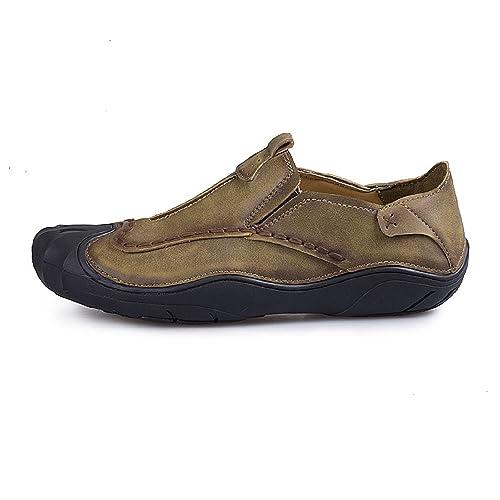 TQGOLD Zapatos para Hombre Mocasines de Cuero Pisos Zapatos de Verano: Amazon.es: Zapatos y complementos